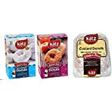 Katz Gluten Free - Donuts Variety Pack, 1 Powdered, 1 Cinnamon, 1 Custard Donuts
