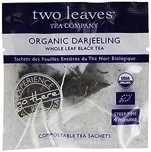 Two Leaves Tea Company Organic Darjeeling Black Tea, 100 Count