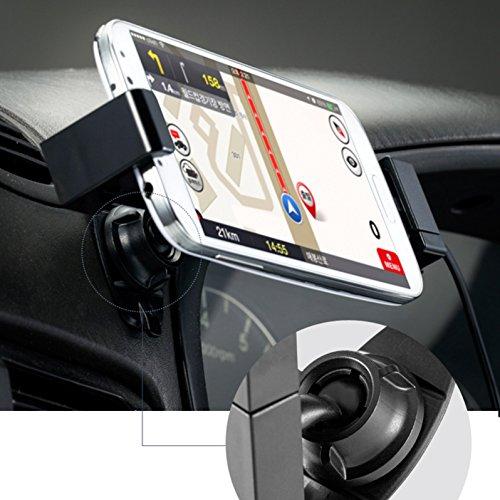 SINJI semplice controllo manuale universale per Smartphone Car Mount Kit Supporto da auto con cavo di ricarica per Android Micro 5Pin