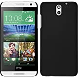 Newtronics Black Rubberized Matte Finish Hard Back Cover Case For HTC Desire 610
