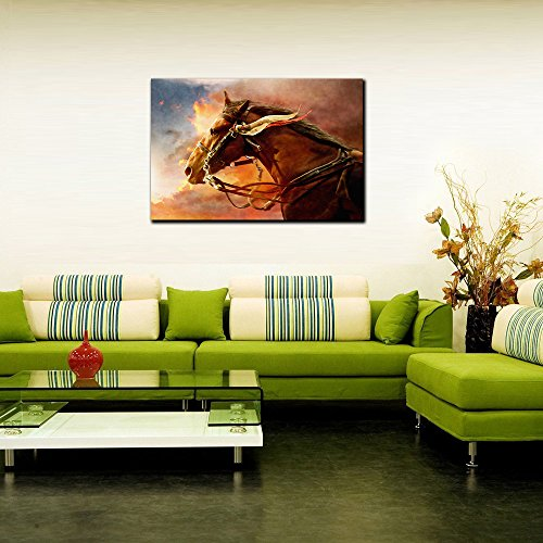 Wall Decor High Quality Photo Lab Emboss Print War Horse Hand Painting Photo Wall Poster Without Frame