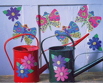Wallies 12932 K.P. Kids Butterfly Garden Wallpaper Cutout - 1