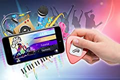 AirJamz: The App-Enabled Music Toy. Play Air Guitar and Make Real Music with Your Motion! (black) エアギターで実際に音楽を奏でられる ギター エアギター ピック ブラック [並行輸入品]