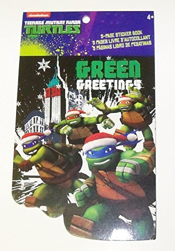 Teenage Mutant Ninja Turtles Sticker Book Christmas Edition Green Greetings - 1