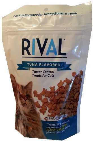 Rival Tuna Flavored Tarter Control Cat Treats, 4.5Oz, 2 Pack