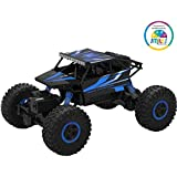 Smiles Creation ROCK Monster CRAWLER 1:18 Scale With 4WD RALLY CAR (Plastic Body) Toys For Kids - Blue