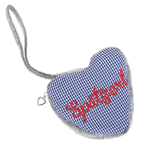 Dirndl-Tasche-PUNTA-HERZ-Herzl-Trachtentasche-Trachten-Bag-Mini-Handtasche-Oktoberfest-Blau