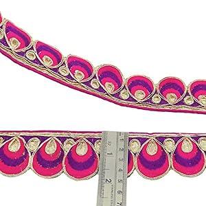 cinta de encaje floral elementos decorativos sari fronterizas 5,0 cm de ancho de acabado por el patio