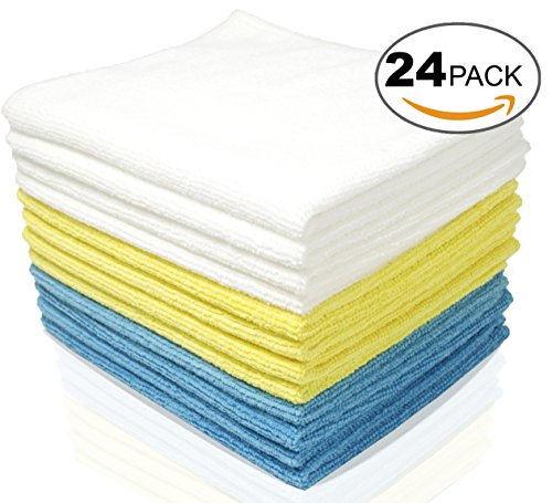 Royal Microfiber Cleaning Cloths - 24 Pack Towels - Highly Absorbent, Ultra Soft and Reusable - Lint Free and Streak Free