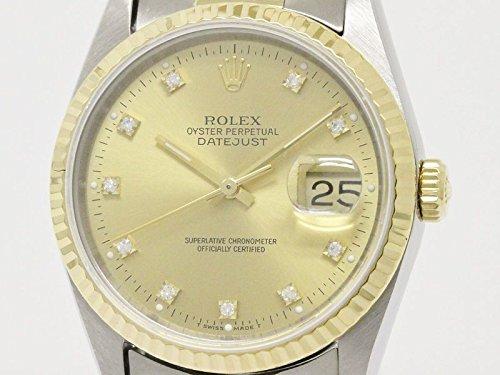 [ロレックス]ROLEX【ROLEX】ロレックス デイトジャスト 16233 X番 ダイヤモンド K18 ゴールド ステンレススチール 自動巻き メンズ 時計16233G(BF087168)[中古]
