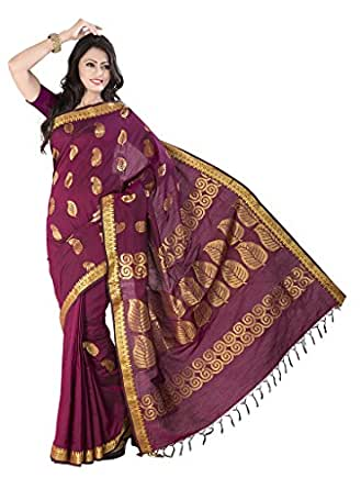 Ishin Cotton Red Rich Pallu Saree available at Amazon for Rs.3749