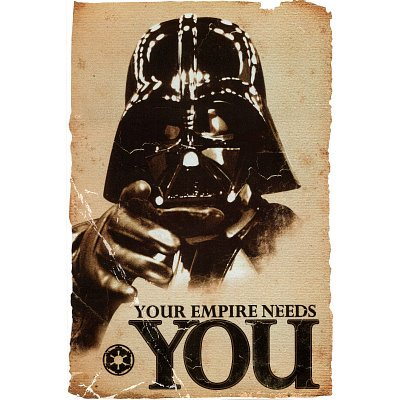 (24x36) Star Wars Movie Your Empire Needs You Darth Vader Poster Print