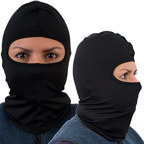 Balaclava (2 Pack) face Ski Mask, Black, Best Motorcycle Balaclava windproof.