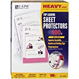 C-Line Top Loading Heavyweight Poly Sheet Protectors, Non-Glare, 8.5 x 11 Inches, 100 per Box (62028)