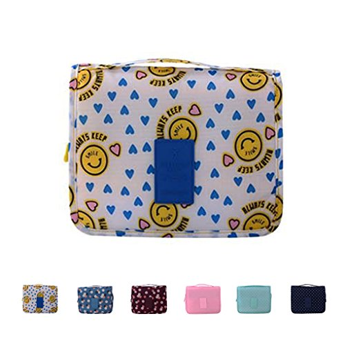 Travel-Trousse Toilette portatile, con custodia a borsa, colore: giallo Blu blu carry-on