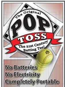 Pop Toss Slow-Pitch batting tee by Pop Toss