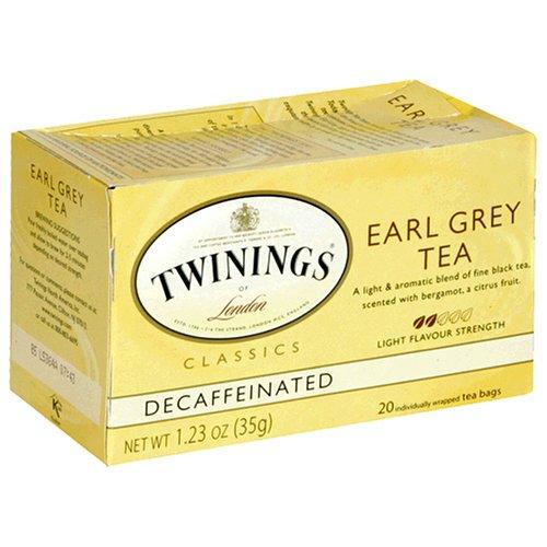 Buy Twinings Earl Grey Decaf Tea, Tea Bags, 20-Count Boxes (Pack of 6) (Twinings, Health & Personal Care, Products, Food & Snacks, Beverages, Tea, Black Teas, Tea Bags)