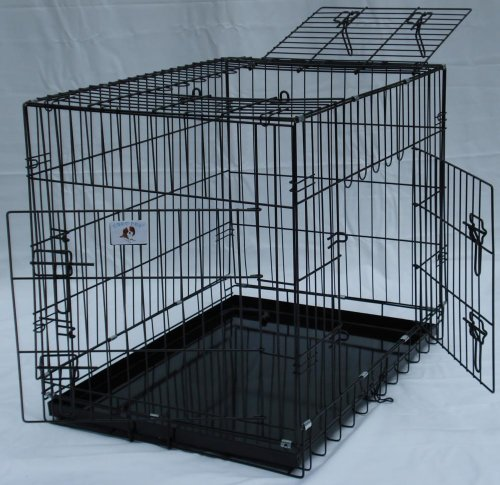 3 Door Suitcase Style Folding Metal Dog Crate