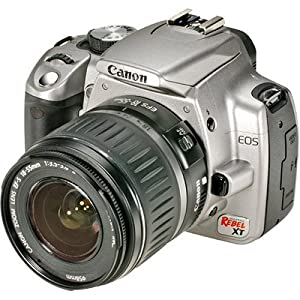 Canon Rebel XT DSLR Camera with EF-S 18-55mm f/3.5-5.6 Lens (Silver) (OLD MODEL)