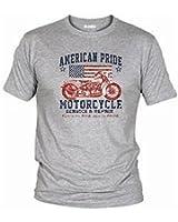 Wolkenbruch® T-Shirt American Pride Motorcyle USA, Gr.S - XXXXXL