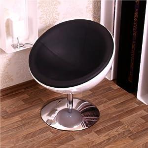 retro schalen sessel 70er design stuhl lounge m bel c13 weiss schwarz k che haushalt. Black Bedroom Furniture Sets. Home Design Ideas