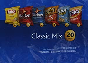 frito lay classic mix variety pack 1oz bags 120ct 24 lay s classic