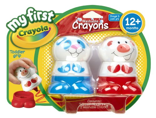 My First Crayola Character Crayon, Red and Blue - 1