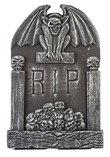 Gargoyle Wings Tombstone Decoration Gray