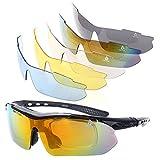Lentes de Sol XQ-XQ para deporte polarizados UV400 con 5 lentes intercambiables