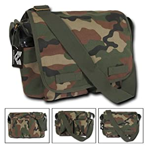 Rapid Dominance Classic Camo Messenger Bags (19 inch, Woodland)
