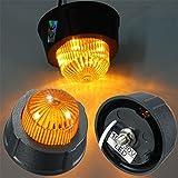 Alcoa Prime 2x Yellow LED Side Marker Light Turn Signal Lamp Yellow Lens For Van Truck Trailer Lorry Caravan 10...