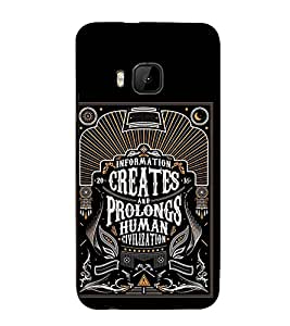 Civilization Quote 3D Hard Polycarbonate Designer Back Case Cover for HTC One M9 :: HTC One M9S :: HTC M9 :: HTC One Hima