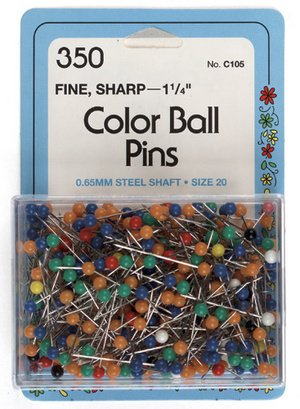 Color Ball Pins Size 20 325/Pkg