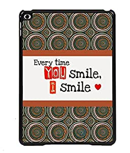 PRINTVISA Every Time Smile Premium Metallic Insert Back Case Cover for Apple IPad 5 - D5984