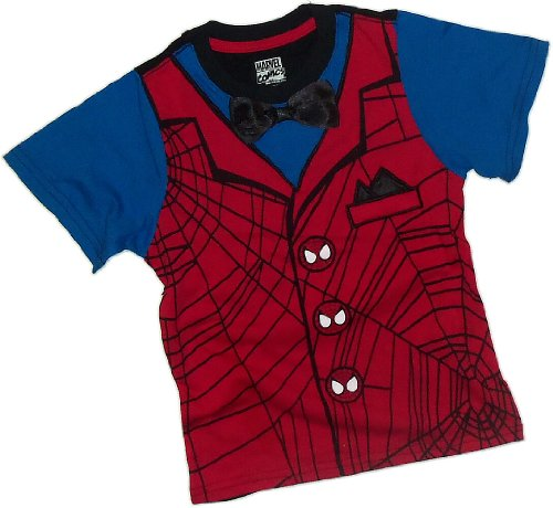 Bow-Tie Spidey -- The Amazing Spider-Man Print/Applique Juvenile T-Shirt