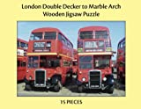 London Double Decker to Marble Arch - XL 15pc Adult Large Piece Jigsaw Puzzle for People with Disabilities, Dementia and Elderly