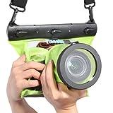 AGPtek® Tteoobl GQ-518L SLR Camera 20M Underwater/ Waterproof Protective Diving Bag for Canon 550D, 600D, 50D, 40D, 60D / Nikon D80, D90, D700, D5100, 7000 - GREEN