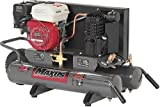 Maxus EX8003 5-1/2 Horsepower 8 Gallon Wheeled Oiled Gas Twin Pontoon Compressor