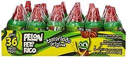 PELON PELO RICO Candy (Tamarind Original, 36-Count Container)