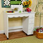Arrow Cabinet 6001 Shirley Sewing Cabinet, White