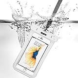 IPhone7/iPhone6s 防水ケース ESR スマホ防水ケース 防水カバー 防水保護等級IPX8取得 水深30m防水テスト 安全ロック100%密封 内蔵ポケット付属 iphoneSE/5s/iPhone6s Plus/iPhone6s/Samsung Galaxyなど6センチ以下全機種対応 iphone6/6s携帯防水ポーチ ホワイト