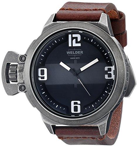 Welder K24 3604 - Reloj de pulsera unisex, piel, color marrón