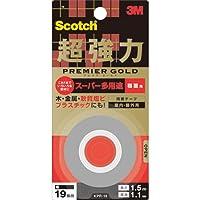 住友スリーエム(3M) スコッチ(R) 超強力両面テープ プレミアゴールド[スーパー多用途]粗面用 19mm×1.5m KPR-19