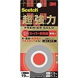 3M スコッチ  超強力両面テープ プレミアゴールド[スーパー多用途]粗面用 19mm×1.5m KPR-19