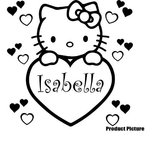你好kitty 凯蒂猫心 [60 x 60 厘米黑色, 基蒂三丽鸥字符, 耐久性优异