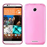TOOPOOT(TM) Skin Pudding Flexible TPU Covers Case Design For HTC Desire 510 (Hot Pink)
