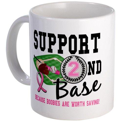 Cafepress Second 2Nd Base Breast Cancer Mug - Standard