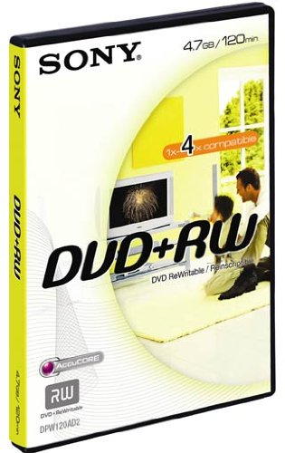 Sony DVD+RW Enregistrable et Réinscriptible 4.7 Go / BV DPW120AVD