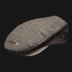 Guinness Brown Tweed Flat Cap