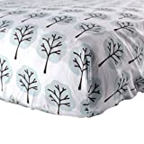 Luvable Friends Woven Crib Sheet, Blue Tree